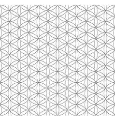 Black outline flower of life sacred geometry vector