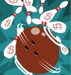 bowling-pin-attack vector image vector image