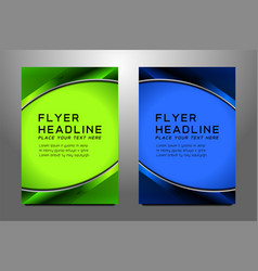 business flyer template design vector image vector image