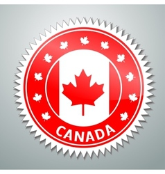 Canada flag label vector image vector image