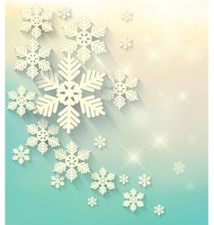 Christmas postcard with snowflakes vector image