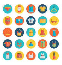 clothing icons - flat vector image vector image