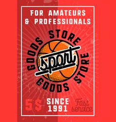 color vintage sport goods banner vector image