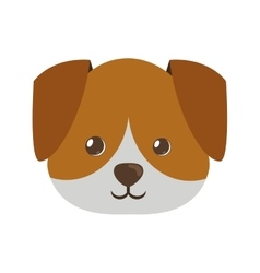 Cute face doggy pet icon vector