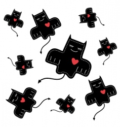 Devils love vector image