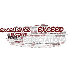 exceed word cloud concept vector image vector image