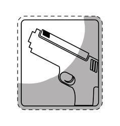 Figure pistol police icon image vector