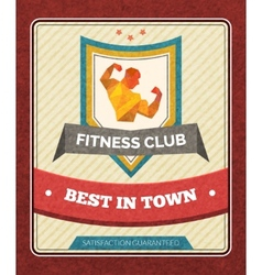 Fitness club poster vector