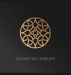geometric logo vector image vector image