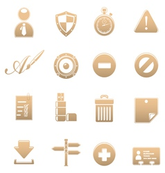 Icon set universal vector image vector image