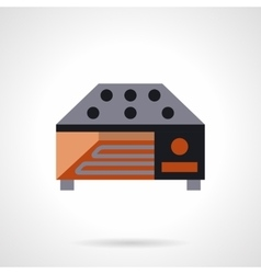 Industrial food dryer flat icon vector