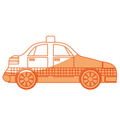isolated taxi car vector image