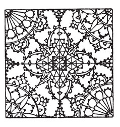 lace pattern is a german 16th century design vector image vector image