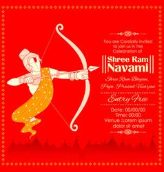 lord rama with bow arrow killing ravana in ram vector image vector image