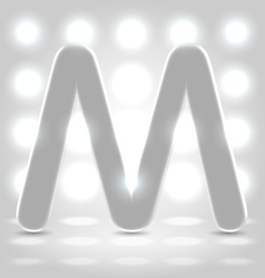 M over lighted background vector image vector image