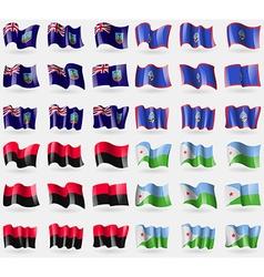 Montserrat guam upa djibouti set of 36 flags of vector