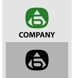 Number 6 logo logotype design vector