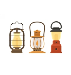 Oil Lamp Set vector image vector image