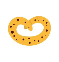 pretzel icon flat style vector image