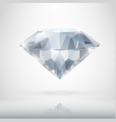 Realistic diamond isolated on white vector