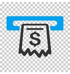 Receipt terminal icon vector