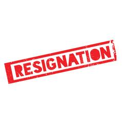 Resignation rubber stamp vector