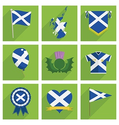 Scotland icons vector