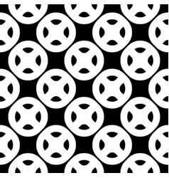 Seamless pattern black white buttons vector