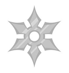 shuriken weapon icon isolated vector image vector image