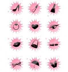 symbol accessories icons vector image