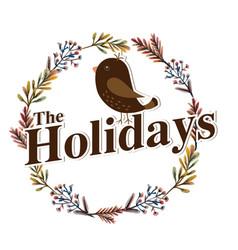 The holidays bird flower crown white background ve vector
