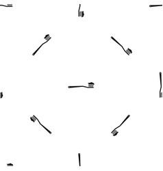 toothbrush pattern seamless black vector image