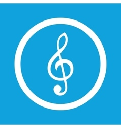 Treble clef sign icon vector