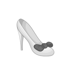 Wedding shoe icon black monochrome style vector