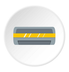 White air conditioner machine icon circle vector