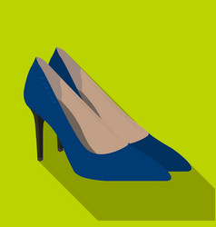 women s leather shoes with heels casual shoes for vector image