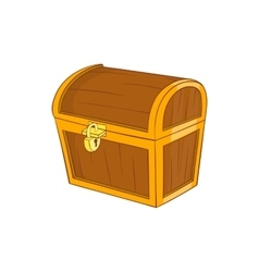 Wooden dower chest icon cartoon style vector