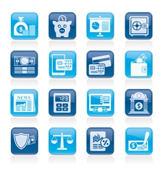 Banking and financial services icons vector