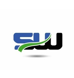 SW letters logo vector image