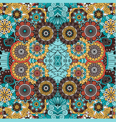 Colorful ornamental floral decorative pattern vector