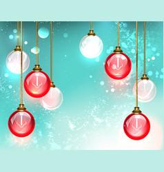 Red light bulb vector