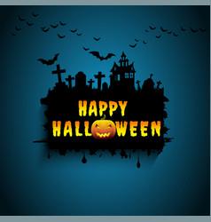 halloween design background vector image