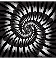 Design monochrome helix movement background vector