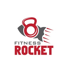 Rocket fitness concept vector