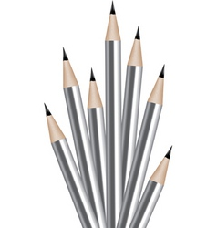 silver lead pencils vector