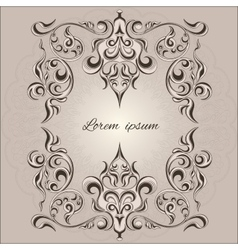 Ornamental frame decorative pattern eastern style vector