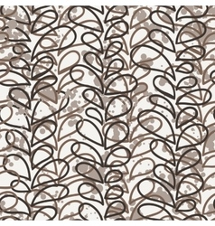 Seamless pattern of colored vines vector