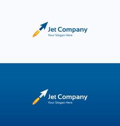 Jet arrow flame dynamic logo vector