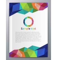Abstract booklet vector