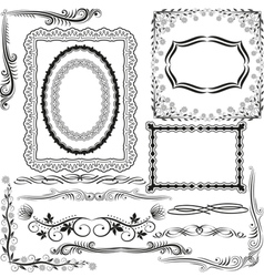 Corners borders and ornaments vector
